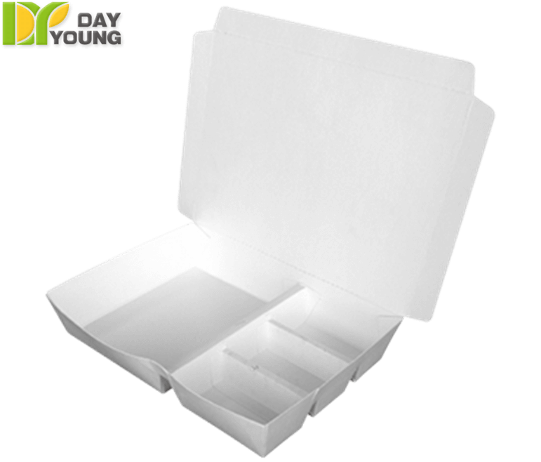 Disposable Food Storage Containers|Vertical Divide Box 401W|Paper Food Containers Manufacturer and Supplier - Day Young, Taiwan