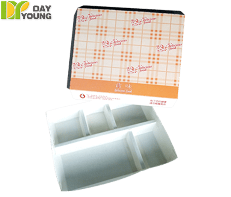 Reusable Food Containers|Horizontal Divide Box 504 (Removable Cover)|Paper Food Containers Manufacturer and Supplier - Day Young, Taiwan