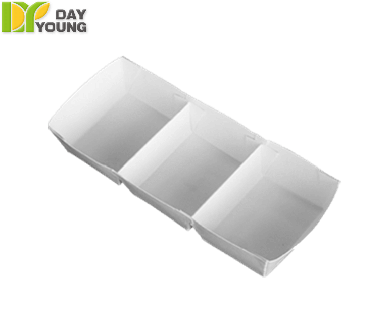 Paper Food Containers | Grocery Containers | Small 3 Grid Tray|Paper Food Containers Manufacturer & Supplier - Day Young, Taiwan