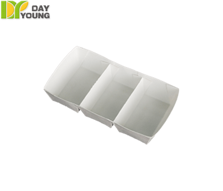 Paper Food Containers | Dry Food Containers | Large 3 Grid Tray | Paper Food Containers Manufacturer & Supplier - Day Young, Taiwan
