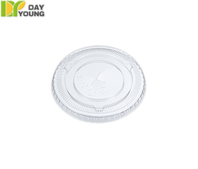 Plastic Cups | Clear Plastic Cups With Lids | Plastic Clear PET Flat Lids 78mm | Plastic Cups Manufacturer & Supplier - Day Young, Taiwan