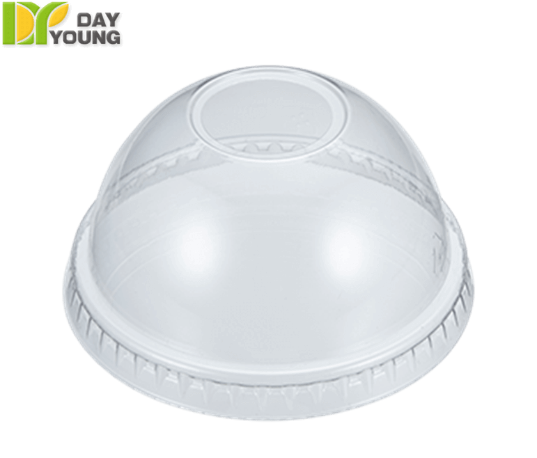 Plastic Cups | Disposable Coffee Cups With Lids | Plastic Clear PET Dome Lids 78mm | Plastic Cups Manufacturer & Supplier - Day Young, Taiwan